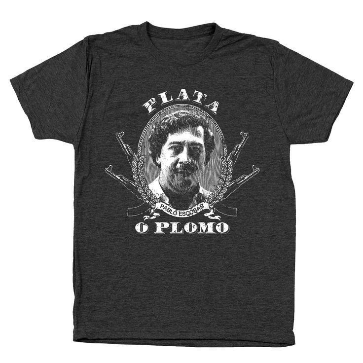 Plata O Plomo Pablo Escobar Narcos Men's Tri-Blend T-Shirt