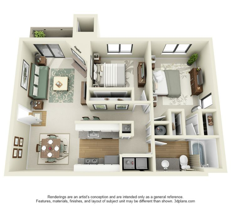 Find 1 Bedroom Apartment: 1000+ Images About One Bedroom Apt Plan On Pinterest