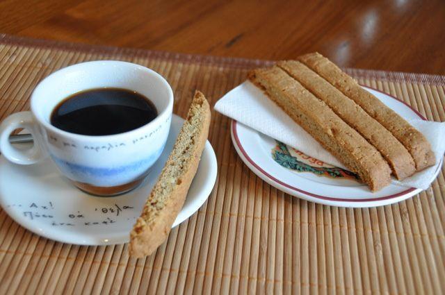 Spiced Biscotti - Recipe for Greek Spiced Biscotti (Paximadakia)