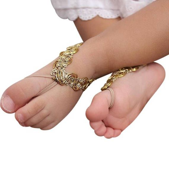 Toddler Sandals, Gold Sandals, Newborn Sandals, Sandals for Newborn, Barefoot Sandals, Toddler Sandals, Infant Sandals, Baptism Sandals The front part of this sandal will not stretch but there is enough stretch elastic on the back for a perfect fit. All my products are designed to make