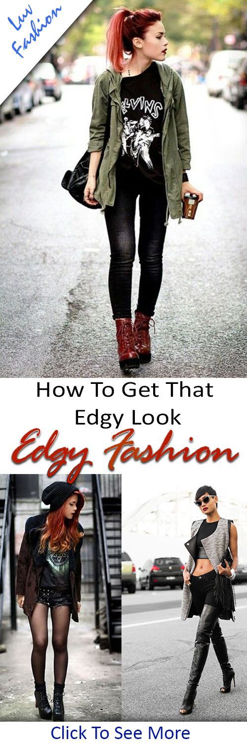 Edgy fashion - How to get that perfect edgy fashion rocker street style look you are after. #luvfashion #edgy #fashion #edgyfashion #streetstyle #dollskill #demilovato