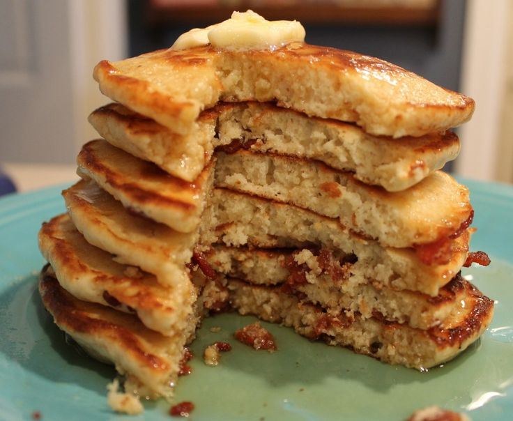Bacon Pancakes - Seriously THE best breakfast in the world and a favorite around my house.  CALGARY STAMPEDE CAKES!