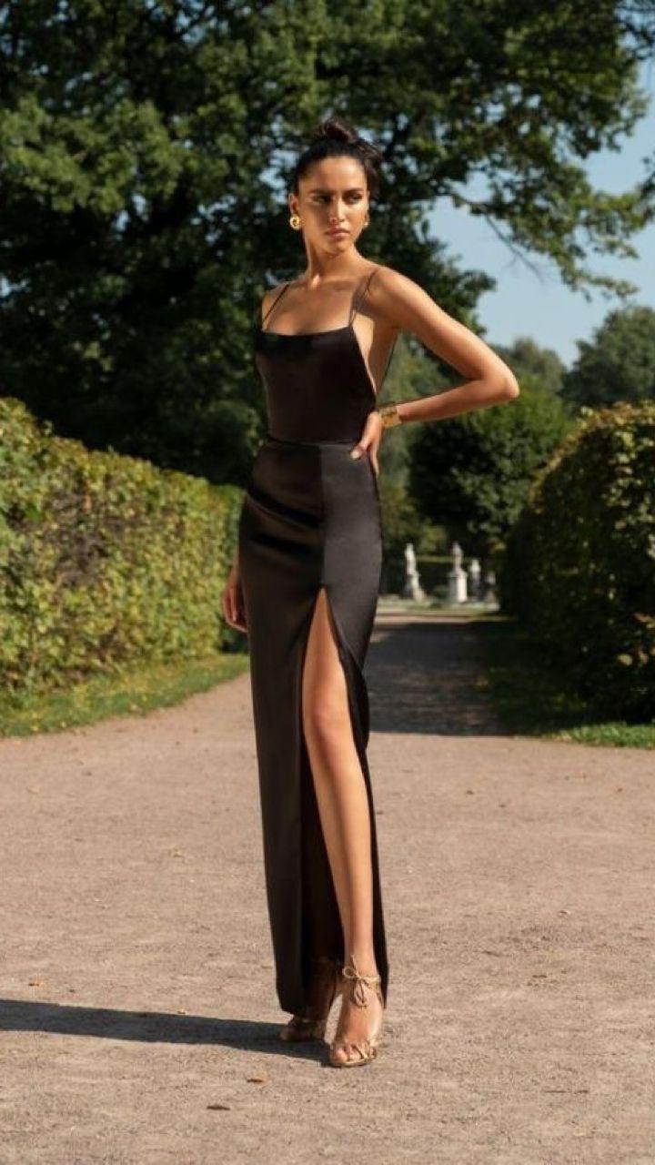 The Mafia King S Queen Simple Prom Dress Black Prom Dresses Fashion [ 1280 x 720 Pixel ]