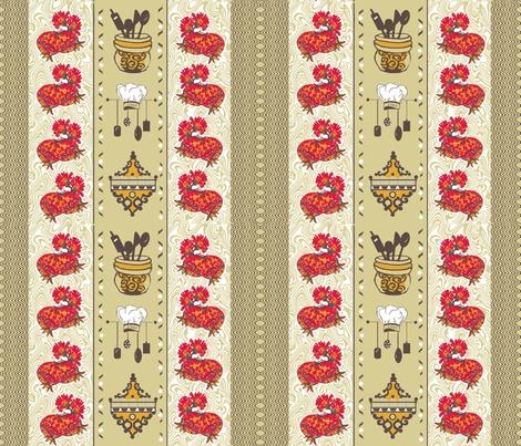 Classy Retro Kitchen Fabric By Createdgift On Spoonflower   Custom Fabric