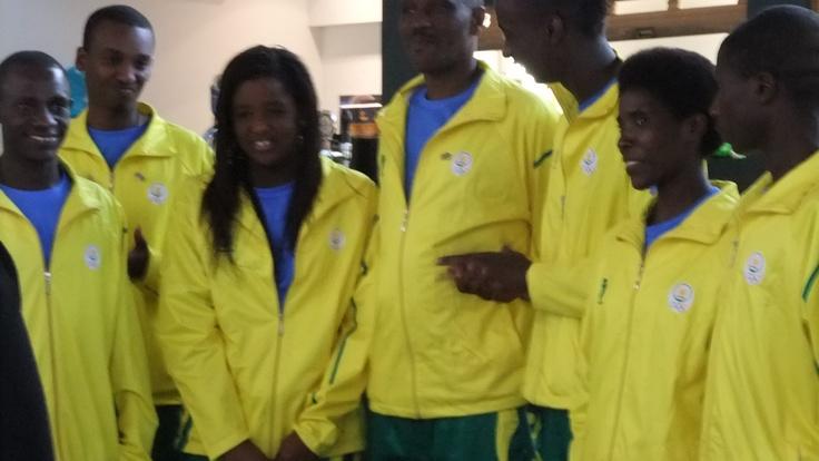 #Rwanda team came to visit