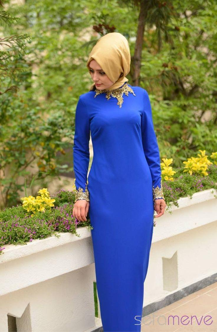 Sefamerve Abiye Elbiseler PDY 4721-01 Saks
