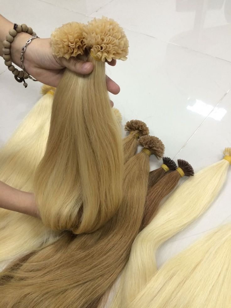 VIRGIN HAIR EXTENSIONS U TIP 20 INCHES COLOR 613