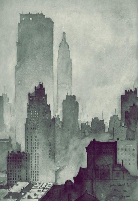 Dark town / Illustration