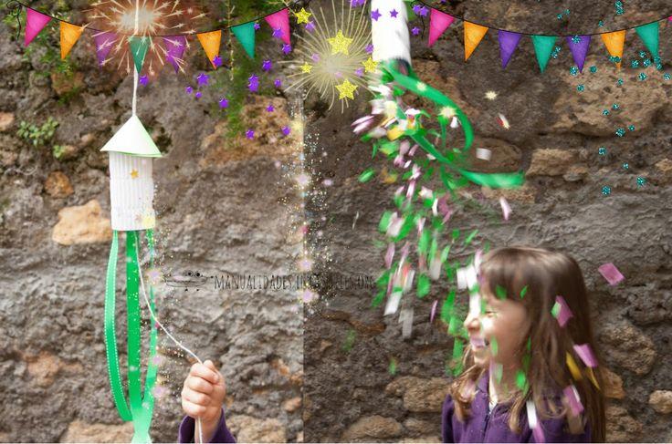 Cohetes reciclados fáciles #PiñatasdeNochevieja  más ideas rápidas para los #NiñosenNochevieja