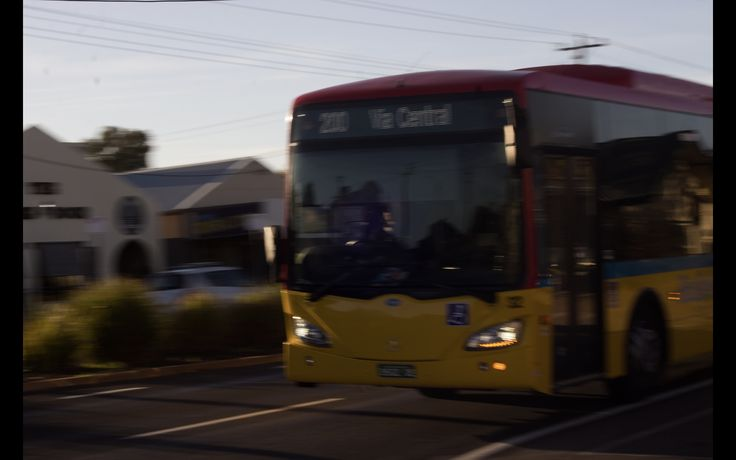 I wanted to get an action shot of my dad driving the bus, I like the motion blur but it's not quite there in the sharpness