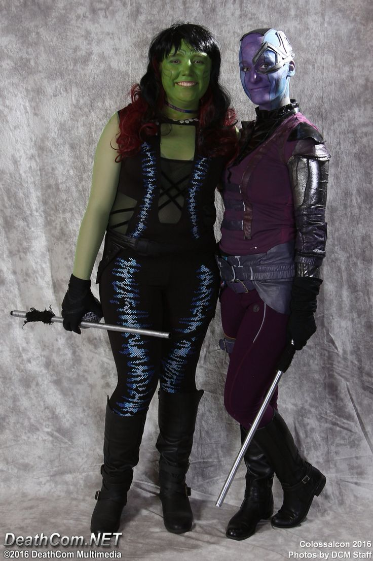 Gamora and Nebula cosplay from colossalcon this year!! #gotg #guardiansofthegalaxy #gotgcosplay #nebulacosplay #gamoracosplay #guardiansofthegalaxycosplay
