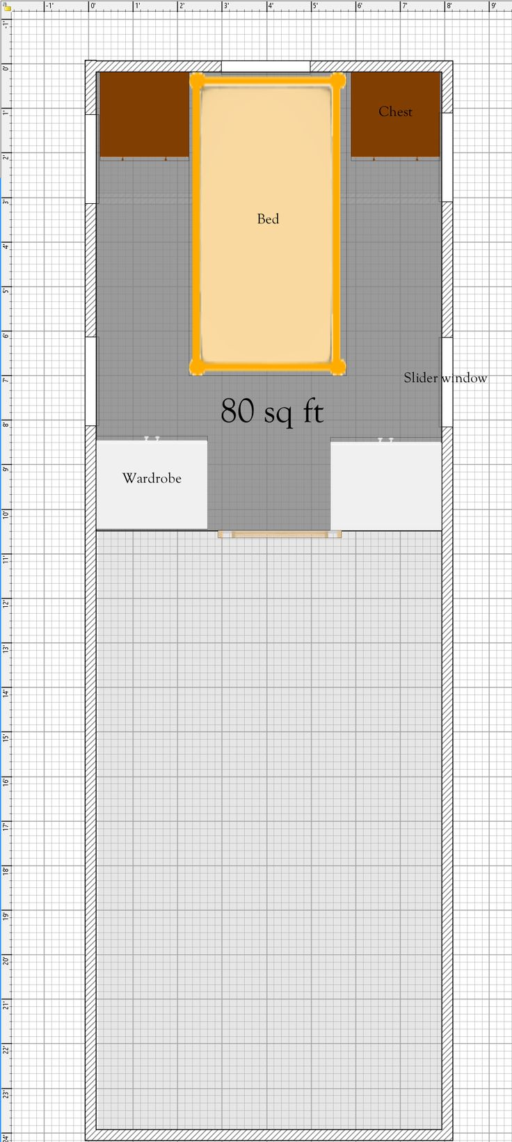 Free Tiny House Floor Plans 8' x 24' House Plan with