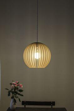 Fabulous lamp from A small company in Berlin - handmade in birch wood.