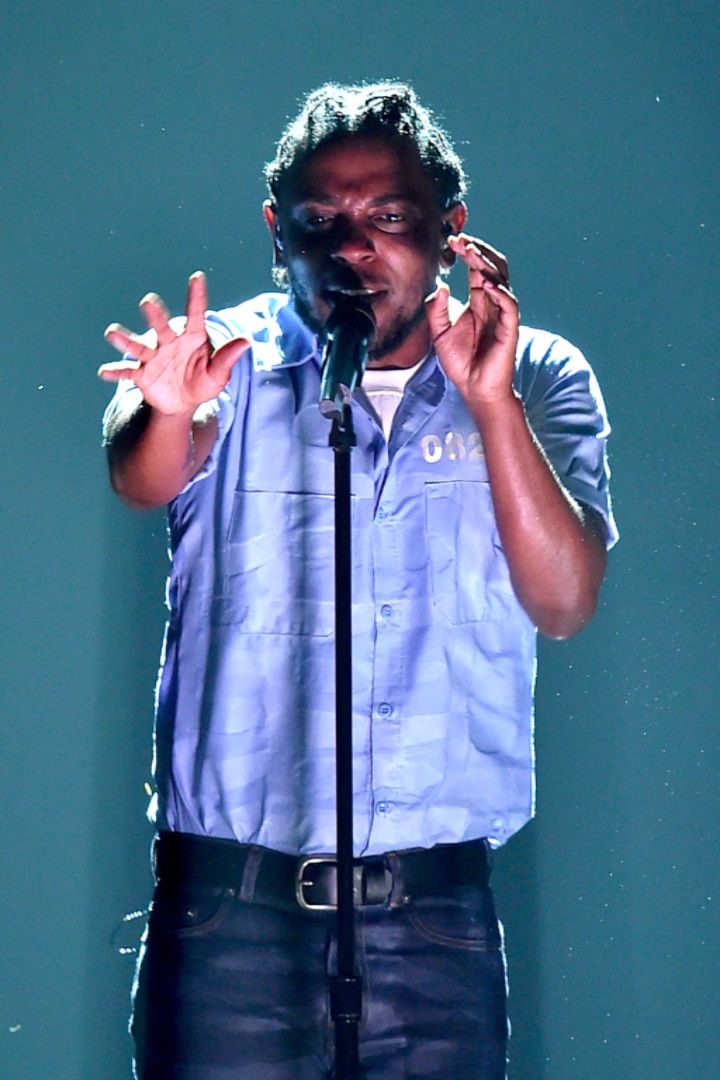 Kendrick Lamar Turns Up the Heat For His Grammys Performance