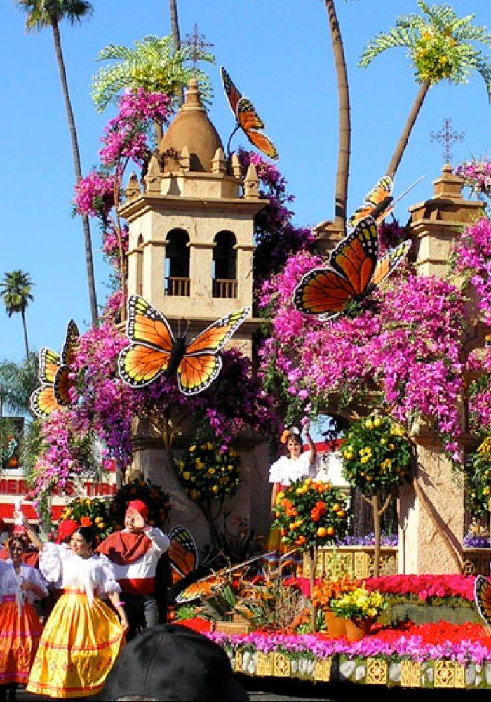 NEW YEAR'S DAY TOURNAMENT OF ROSES PARADE IN PASADENA, CALIFORNIA