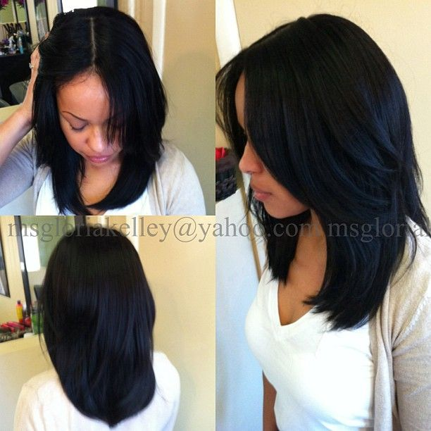 "403 Likes, 45 Comments - Gloria Kelley (@gloriakelley) on Instagram: ""Yes it's a full weave! None of her natural hair is out. StyleSeat.com/gloriakelley #extensions…"""