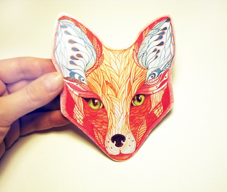 100% waterproof vinyl sticker, Red Fox face animal sticker, New on teva gallery. $7.50, via Etsy.: No Foxes The Animals, Teva Gallery, Face Animal, Waterproof Vinyl, Red Fox, Par Tevagallery