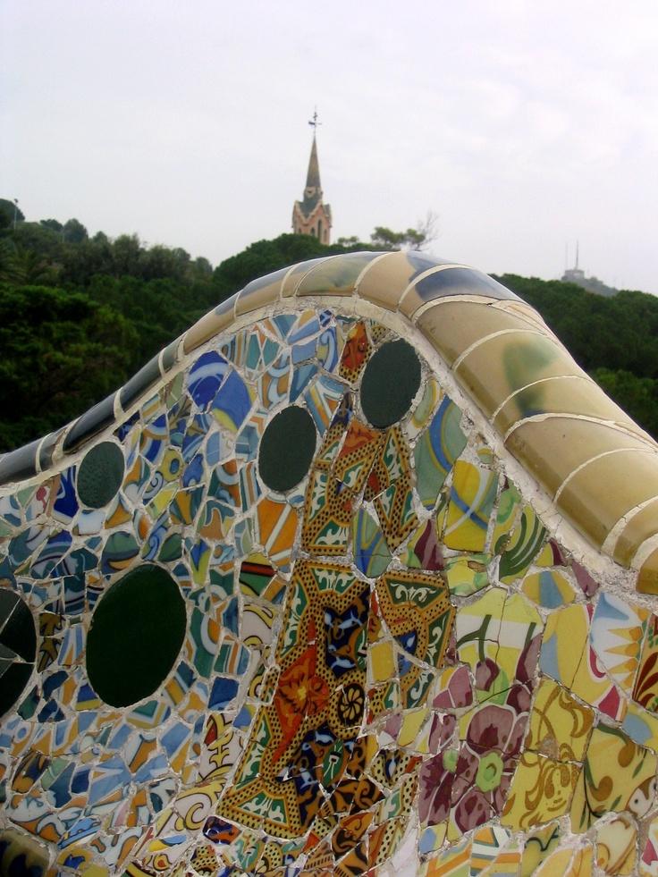Mosaique Gaudi, Barcelone, Espagne