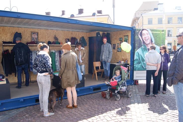 Makia Store in Helsinki Fashion Village in Senate Square of Helsinki. Photo by myPose! ltd.