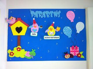toys - Reciclagem divertida e artesanato: Painel Aniversariantes - Bichinhos de Jardim
