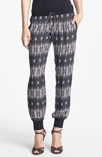 Haute Hippie Print Silk Sweatpants available at #Nordstrom