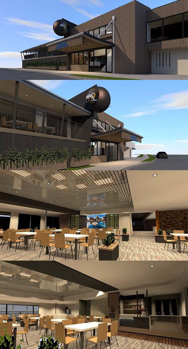A fantastic design for a bowls club by Focus Architecture.