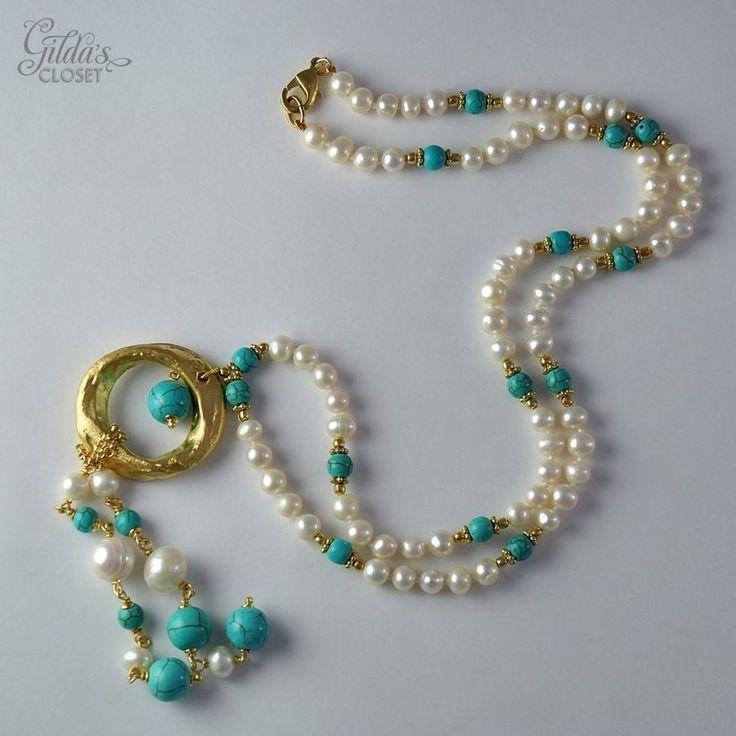Diseño Collares, Collares Verdes, Bisuteria Collares Largos, Collares Distintos, Aretes, Collares De Perlas De Moda, Como Hacer Collares, Distintos Diseños,