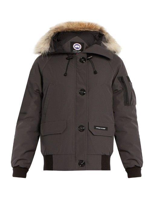 CANADA GOOSE Chilliwack Fur-Trimmed Down Bomber Jacket. #canadagoose #cloth #jacket