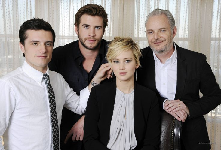 another adorable moment between josh and jennifer, only josh can do that to jlaw, so cute!! i mean this look like a serious photo but josh still managed to steal some cute moment and jlaw able to maintain a serious look in this pic and now i want to see more #joshifer moments