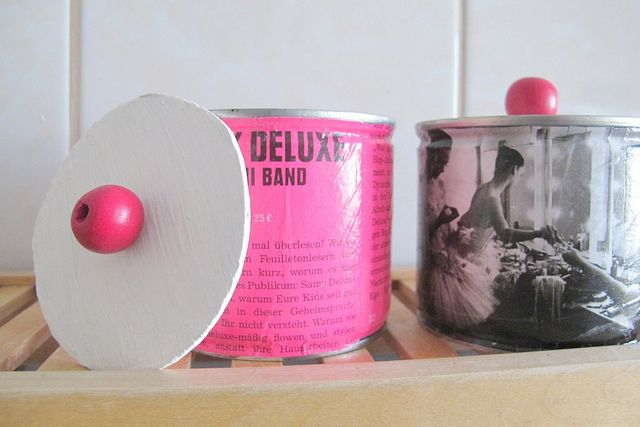 Dosen Upcycling Pink Rosa Recycling Decopatch Serviettentechnik