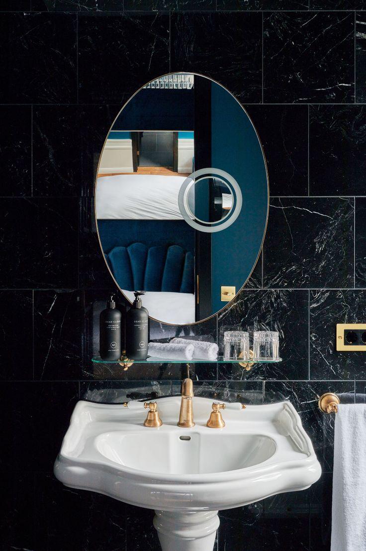 Gallery round mirror bathroom hotels design gallery design