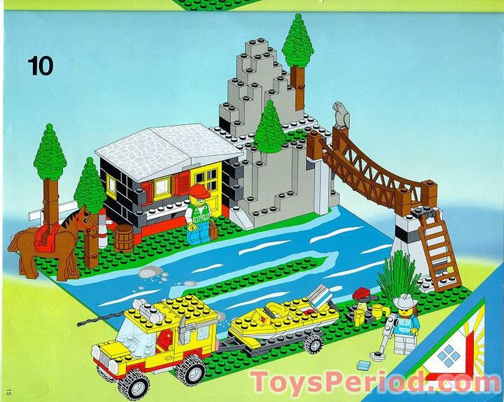 Lego Set Of Mountain Cabin By River Lego Instructions Lego Activities Lego