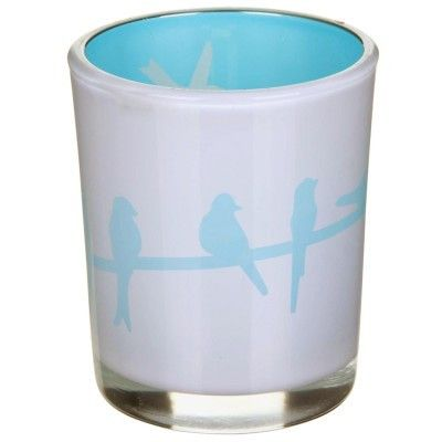 Birds Reflective Tealight Holder - Turquoise - Amour Decor - 1