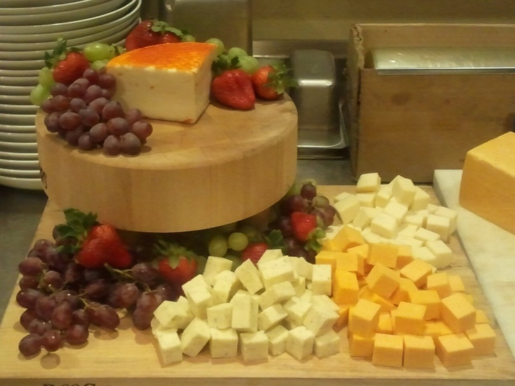 Fruit and Cheese Display for 15