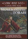 """Come and See: Moses and the Torah DVD $99.95 USD. s: Especially designed for families to do together, """"Come and See"""" Catholic Bible Study series presents the rich heritage of the Catholic Faith in clear and simple language. With its practical direction for leaders, easy-to-use workbook format, and appealing design, this Bible study series is ideal for use in the classroom, home study, or parish catechesis."""