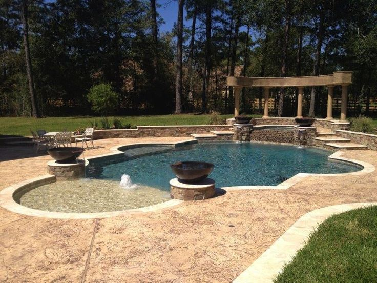 Greek Backyard Designs find this pin and more on pool design Magnolia Greek Pool With Slide 1