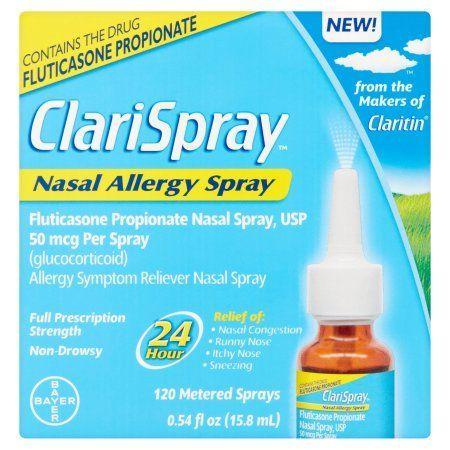 Bayer ClariSpray Nasal Allergy Spray 120 Metered Sprays, 0.54 fl oz