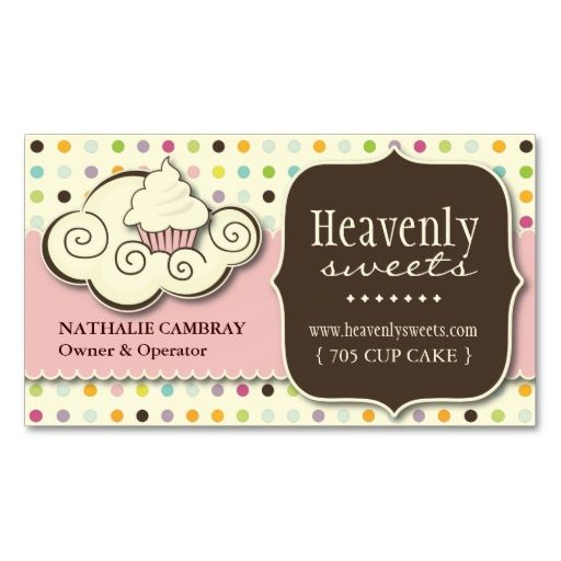 Fun and Whimsical Cupcake | Bakery Business Card. This is a fully customizable business card and available on several paper types for your needs. You can upload your own image or use the image as is. Just click this template to get started!
