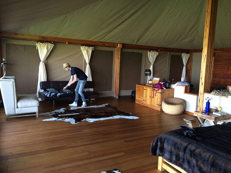 Loisaba Tented Camp Honeymoon suite - Incredible views over Loisaba conservancy valley