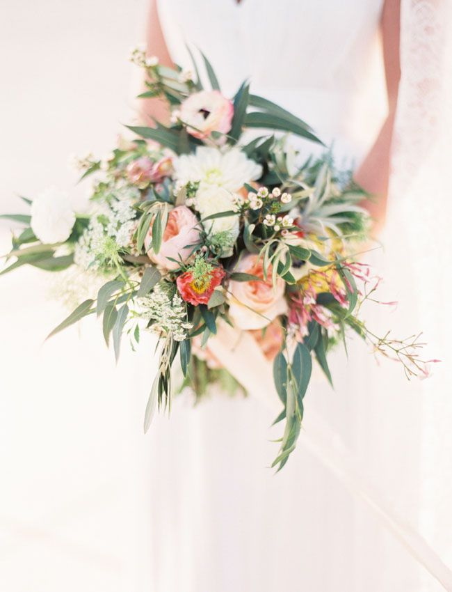 bouquet with ribbon