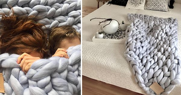Beautiful grey merino blanket from iconioo.cz
