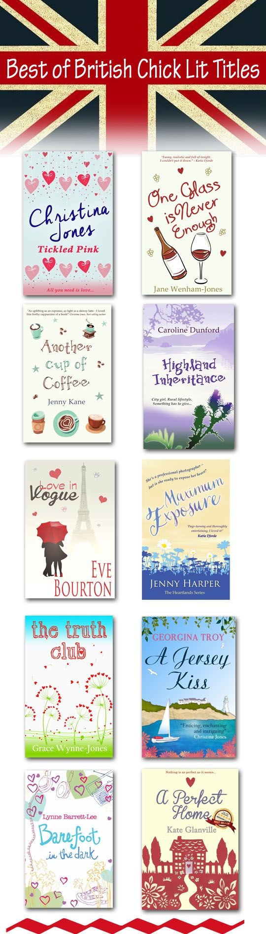 Love reading Chick lit books? Then you'll love these titles by great British authors.