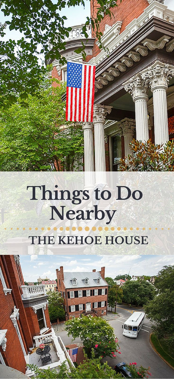 Things to Do in Historic Savannah near The Kehoe House.  From museum homes and squares to shopping and dining, here's a look at what's nearby The Kehoe House on Columbia Square. #kehoehouse