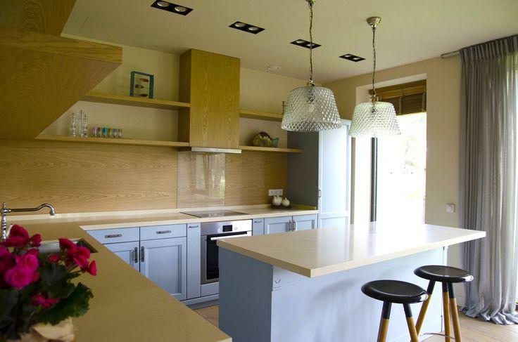 Blue kitchen contemporary and traditional mix  #SMIRNOVAINTERIORSPARIS