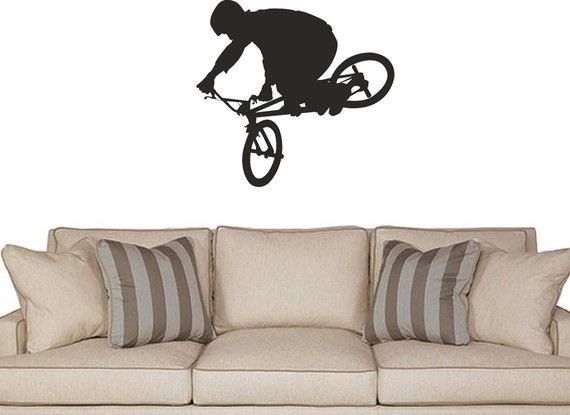 Bike Freestyle BMX wall decal by AriseDecals on Etsy