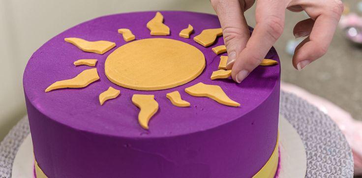 Tangled Disney Princess Rapunzel Cake Base Border Sun