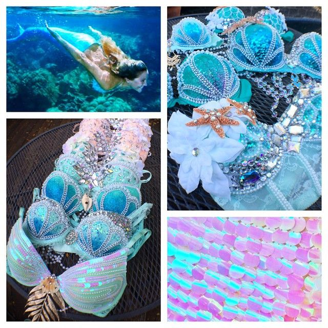 """""""I can make any of your mermaid dreams come true! If you couldn't tell, mermaid bras are my absolute favorite and they always turn out to be my best work…"""""""