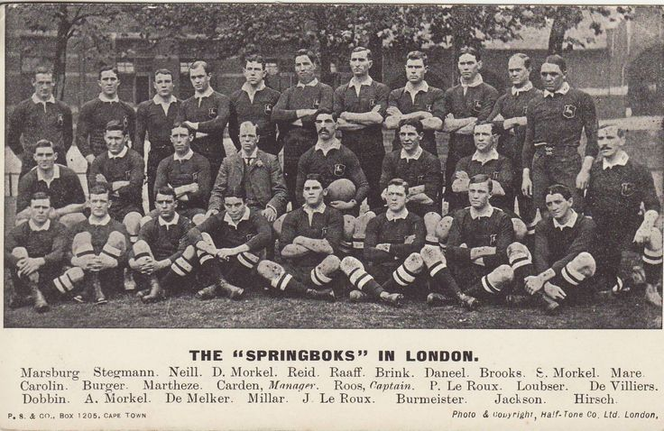 First Springbok Rugby Team  1906
