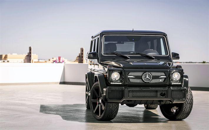 Descargar fondos de pantalla Gelendvagen, Mercedes-Benz G63 AMG de 2017, los coches, los coches alemanes, Todoterrenos, coches de lujo, Mercedes
