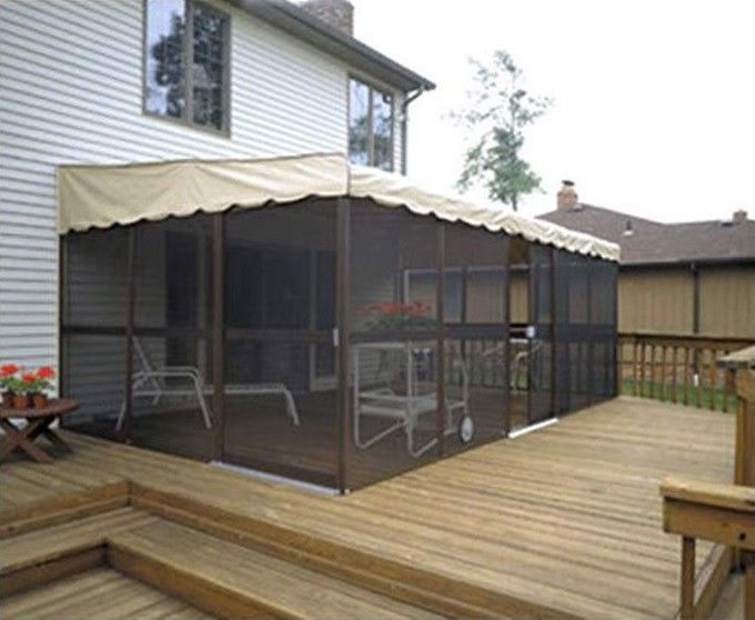 Patio Screen Enclosure Yard Outdoor Lawn Canopy Gazebo ...
